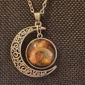 Jewelry - ♡2/$7 or 4/$10 ♡ Moon and Galaxy Necklace